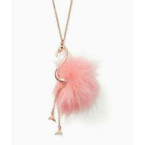 Kate spade flamingo pool long pendant necklace